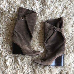 Balenciaga suede side buckle boots sz 41 or 11